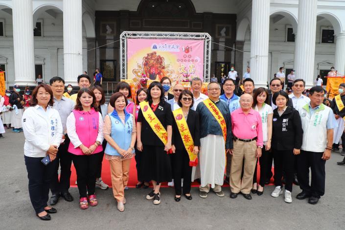 鎮南宮仙公廟文昌文化藝術季開跑,本會祈求天降甘霖及市民平安幸福