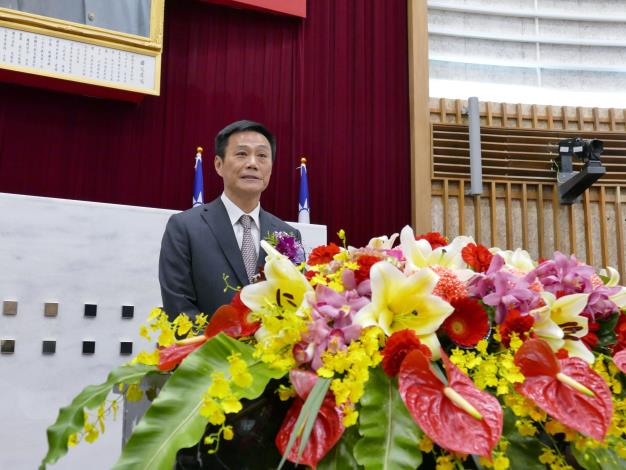 議長許崑源表示總預算案將政黨協商(共1張)-1
