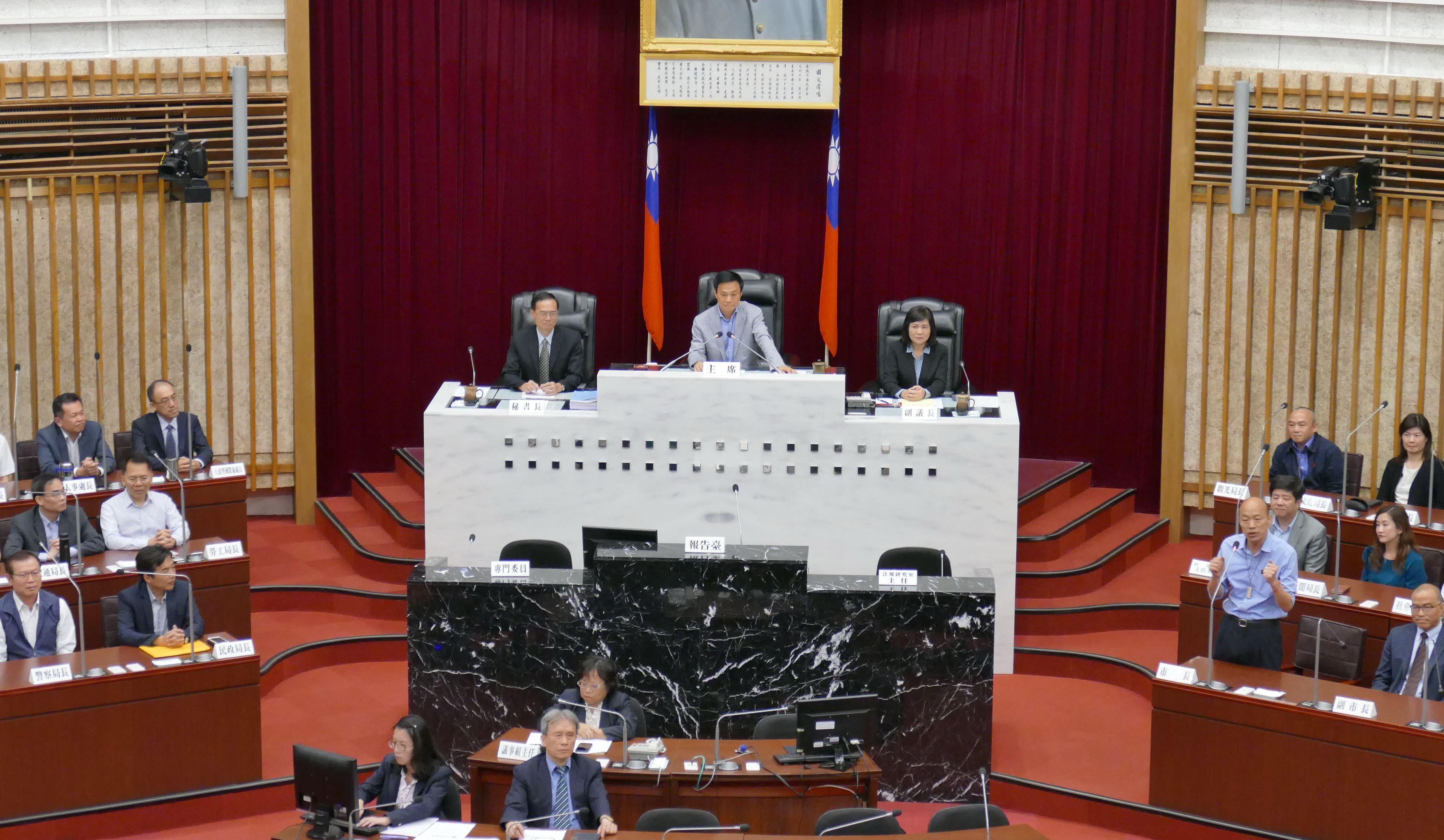 議會第1次定期會閉幕,許議長勉勵韓市長「向前走」