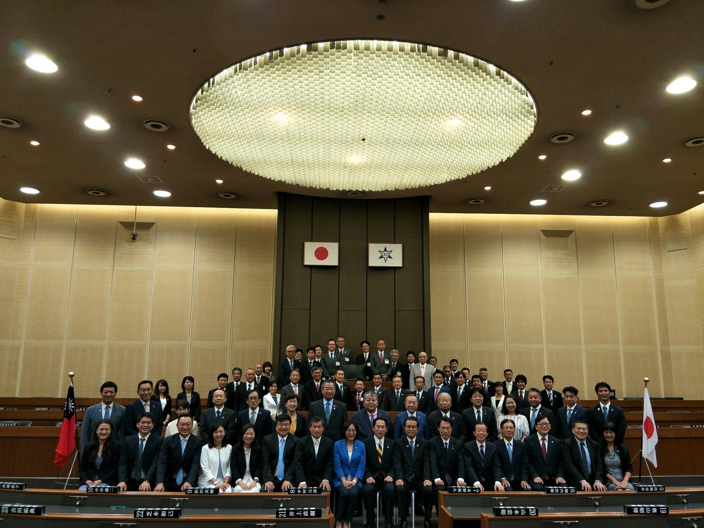 議長康裕成率團參訪日本和歌山市議會締結姊妹議會